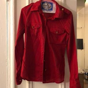 Tory Burch red size 6 button down